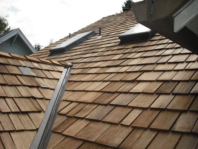 Newly Installed Cedar Roof