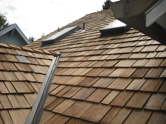 Newly Installed Cedar Roof
