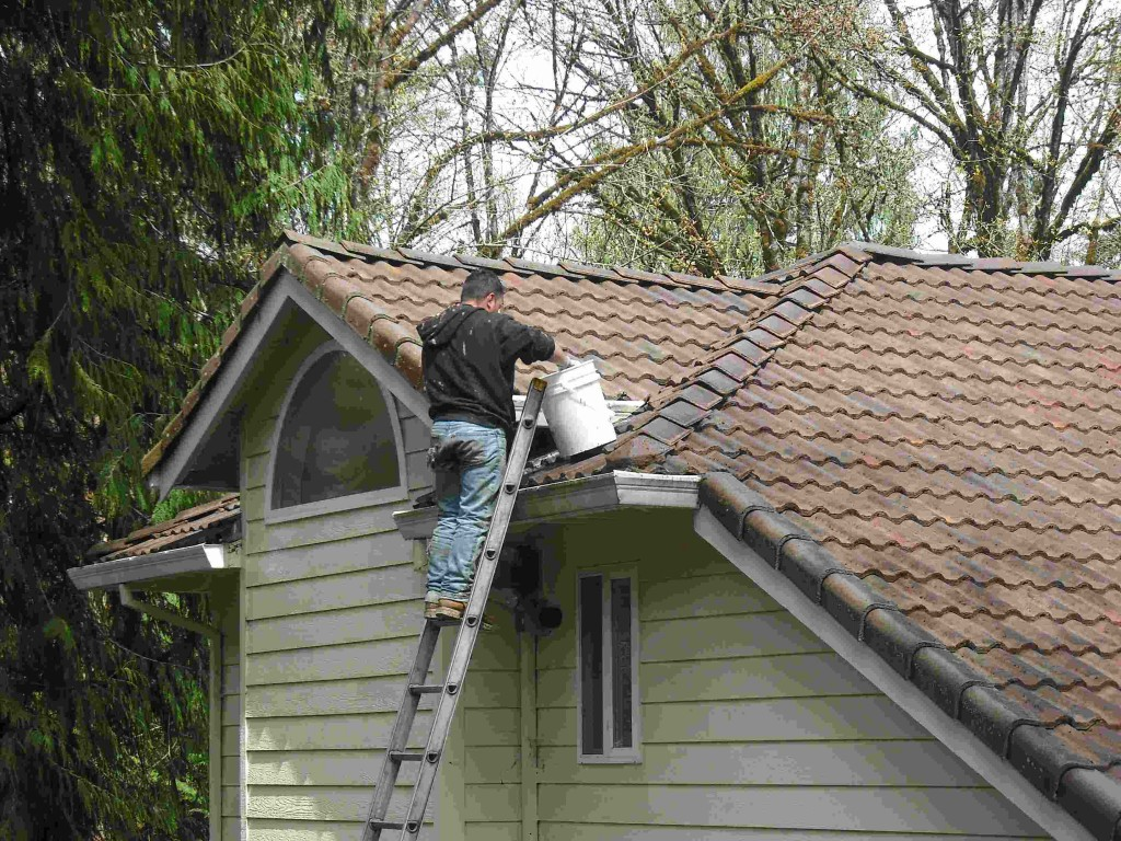 Gutter cleaning is an important household maintenance job.