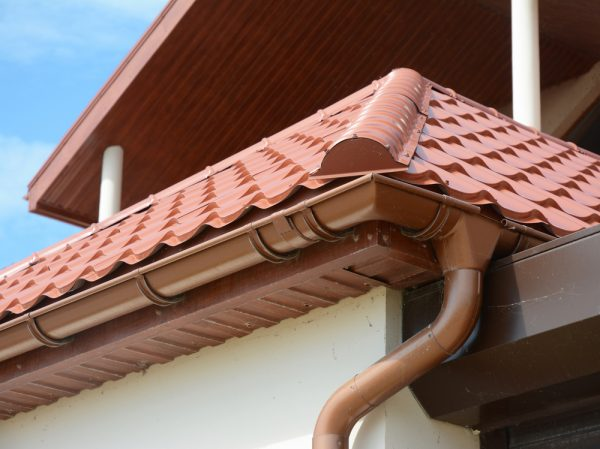 Metal Tile Roof and Gutters